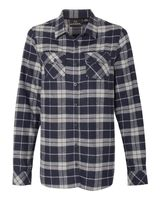 Burnside Women's Yarn-Dyed Long Sleeve Flannel Shirt 5210