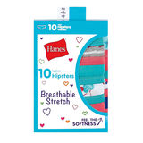 Hanes Girls' Breathable Stretch Hipsters 10-Pack GSTH10