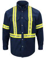 Bulwark Dress Uniform Shirt with CSA reflective trim - EXCEL FR ComforTouch - Long Sizes SLUCL