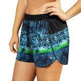 Champion Women's Plus Printed Sport Shorts 5 QM984P