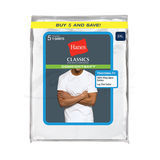 Hanes Classic Big Mens Crew Neck T-Shirt 5-Pk 7870W5