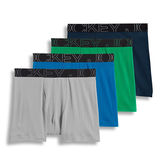 Jockey Men's Active Blend Full Cut Cotton Boxer Briefs - 4 Pack 9540