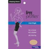 Leggs Hosiery 10415 Profiles Mid-Thigh Control Sheer Pantyhose
