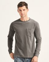 Comfort Colors Garment Dyed Heavyweight Ringspun Long Sleeve Pocket T-Shirt 4410
