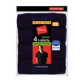 Hanes Mens ComfortSoft Dyed TAGLESS Crewneck Undershirt 4-Pk 2165NX
