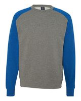 Independent Trading Co. Fitted Raglan Crewneck Sweatshirt IND30RC
