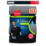 Hanes ComfortSoft TAGLESS Men's Dyed Crewneck Undershirt 4-Pack 2165P4