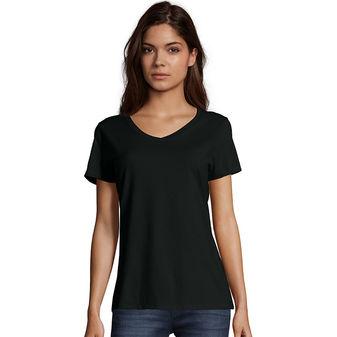 Hanes Women\'s Nano-T® V-Neck T-Shirt S04V