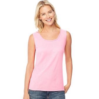 Hanes Women\'s Mini-Ribbed Cotton Tank Undershirt O9341