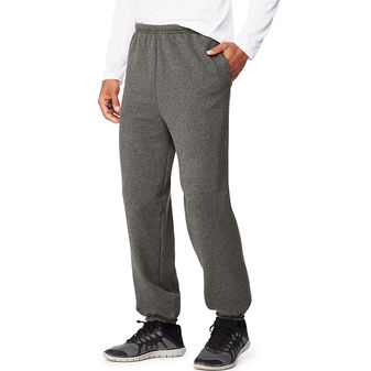 Hanes Sport Ultimate Cotton Men\'s Fleece Sweatpants With Pockets OF360