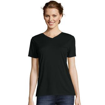 Hanes Women\'s Cool DRI® V-Neck T-Shirt 483V