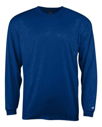 Badger Youth Line Embossed Long Sleeve T-Shirt 2145