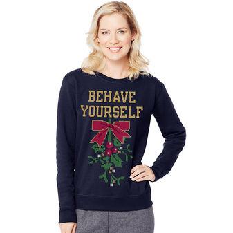 Hanes Women\'s Ugly Christmas Sweatshirt O4876