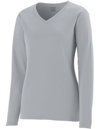 Augusta Sportswear Girls\' Long Sleeve Wicking T-Shirt 1789
