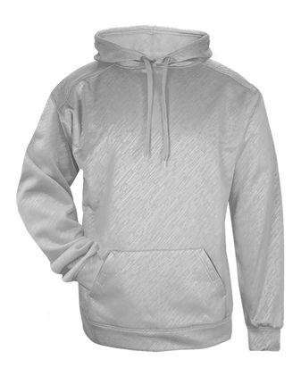 Badger Line Embossed Hooded Sweatshirt 1431
