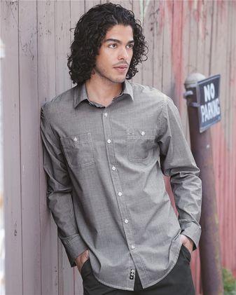 Burnside Mini-Check Long Sleeve Shirt 8257