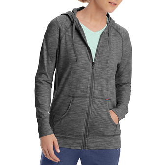 Champion Women\'s Heathered Jersey Jacket J4165