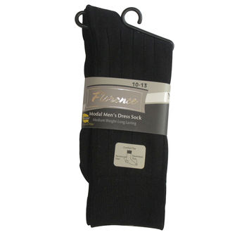 Florence Mens Modal Ribbed Dress Sock 270