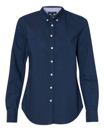 Tommy Hilfiger Women\'s New England Solid Oxford Shirt 13H4378