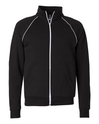 BELLA + CANVAS Piped Fleece Cadet Collar Jacket 3710