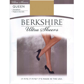 Berkshire Women\'s Plus-Size Queen Ultra Sheer Non-Control Top Pantyhose - Sandalfoot 4413