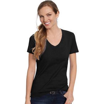 Hanes Womens Nano-T V-Neck T-Shirt S04V