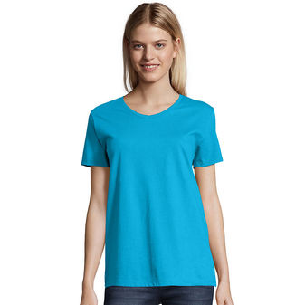 Hanes Relaxed Fit Women\'s ComfortSoft® V-neck T-Shirt Sty# 5780