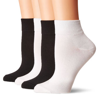 HUE Super Soft Cropped Sock 4 Pk U18869