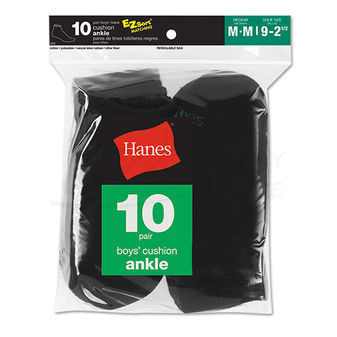 Hanes Boys  Ankle Sock 10 pair 422/10