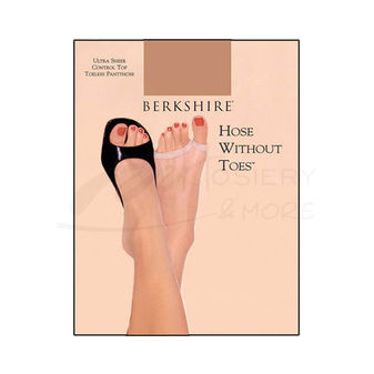 Berkshire Women\'s Hose Without Toes Ultra Sheer Control Top Pantyhose 5115