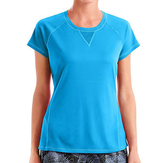Hanes Sport Women\'s Performance Tee with Mesh Insets O9345