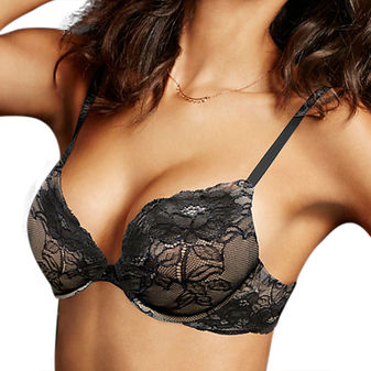 Maidenform Comfort Devotion Embellished Plunge Push Up Bra 09443