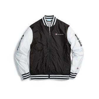 Champion Life Men\'s Baseball Jacket, Multi C Logo Patches V1941 549971
