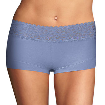 Maidenform Cotton Dream Boyshort With Lace 40859