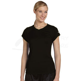 Champion Womens Essential Double Dry V-Neck Tee Shirt CW23