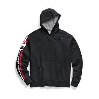 Champion Men\'s Powerblend Fleece Pullover Hoodie, Vertical Logo