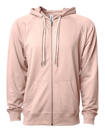 Independent Trading Co. Icon Unisex Lightweight Loopback Terry Zip Hood SS1000Z