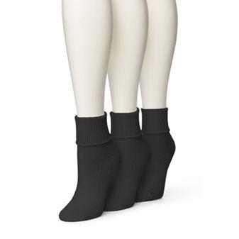 HUE Women\'s Air Sport 3 Pair Pack Turncuff Socks U12804