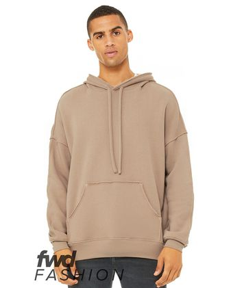 BELLA + CANVAS Fashion Unisex Raw Seam Hoodie 3742