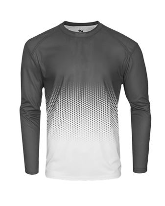 Badger Youth Hex 2.0 Long Sleeve T-Shirt 2224
