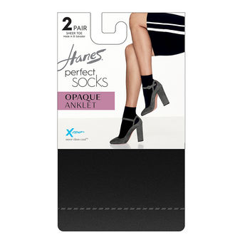 Hanes Perfect Socks Opaque Anklet P2 ST HST014