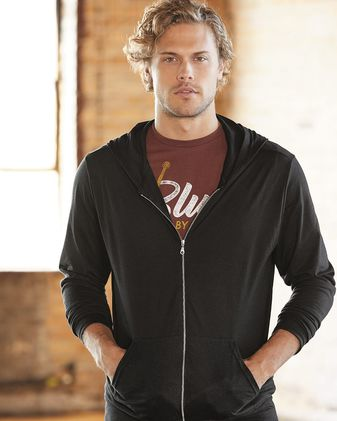 Anvil Triblend Full-Zip Hooded Long Sleeve T-Shirt 6759