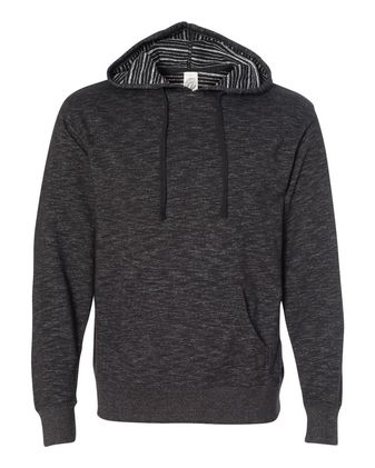 Independent Trading Co. Baja Stripe French Terry Hooded Pullover Sweatshirt PRM22BP