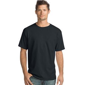 Hanes ComfortSoft® Men\'s Short-Sleeve Crewneck T-Shirt 4-Pack O5280