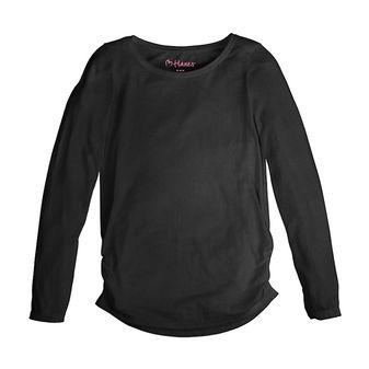 Hanes Girl\'s Shirred Sideseam Long Sleeve Tee K359