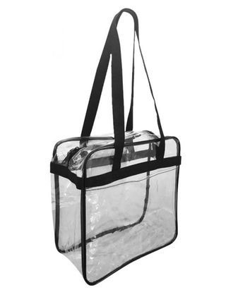 OAD OAD Clear Tote with Zippered Top OAD5005