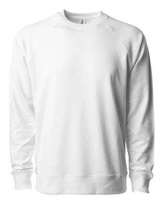 Independent Trading Co. Icon Unisex Lightweight Loopback Terry Crew SS1000C