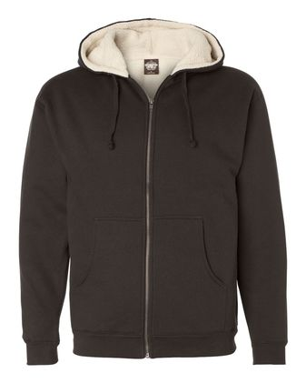 Independent Trading Co. Sherpa-Lined Full-Zip Hooded Sweatshirt EXP40SHZ