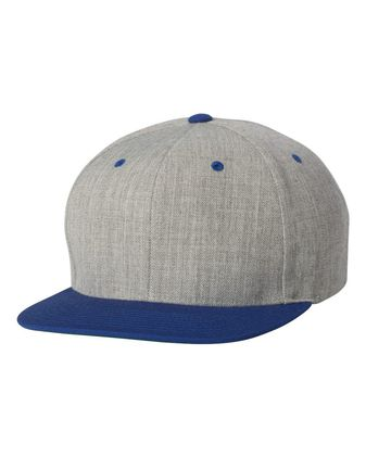 Yupoong Wool Blend Flat Bill Snapback Cap 6089M