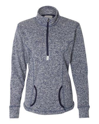 J. America Women\'s Cosmic Fleece Quarter-Zip Pullover 8617